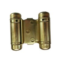 Bommer 1514-632, Louver Door Spring Hinge, Double Acting, Light Duty for 7/8 - 1in Thick Doors, Bright Brass