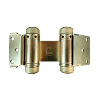 Bommer 1514-633, Louver Door Spring Hinge, Double Acting, Light Duty for 7/8 - 1in Thick Doors, Dull Brass