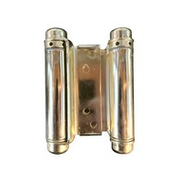 Bommer 3029-4-632, 4in Gate/Spring Hinges, Double Acting for 7/8 - 1-1/4 Thick Doors, Bright Brass