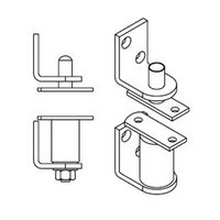 Bommer 7512-633, Gravity Pivot, Louver Hinge Kits, Double Acting, Door Swing Direction Does Not Hold Door Open, Dull Brass
