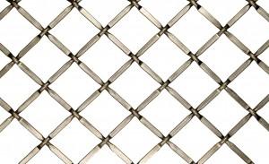 """Aluminum Wire Grill Press Crimp Type 36"""" W x 48"""" L Flat Black Kent Design 332PFB-36X48"""
