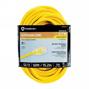 Northern Safety 29347 50' Extension Cord, Outdoor, 12/3 Gauge