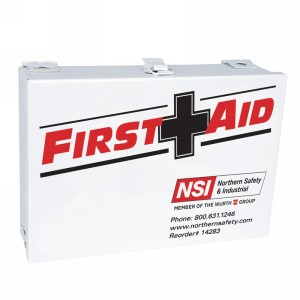 Northern Safety 14283 25 Person First Aid Kit, ANSI & OSHA Standard Compliant, Steel Case