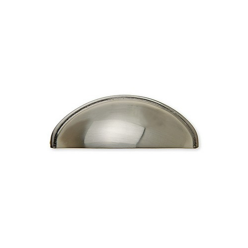 Harney Hardware 36241, Cup Pull, Zinc Cup Pull, Satin Nickel, 2-1/2 Centers