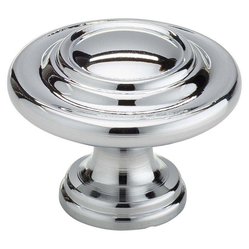 "Ring Knob 1-1/8"" Dia Polished Chrome Harney Hardware 36258"