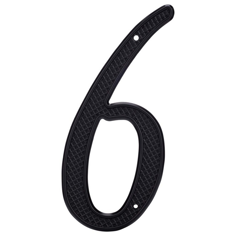 """4"""" Nail On House Number 6 Black Harney Hardware 37506"""