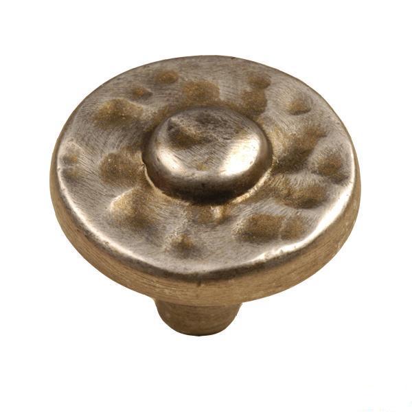 "Nevada Knob 1-3/8"" Dia Antique Pewter with Stone Wash Laurey 37676"