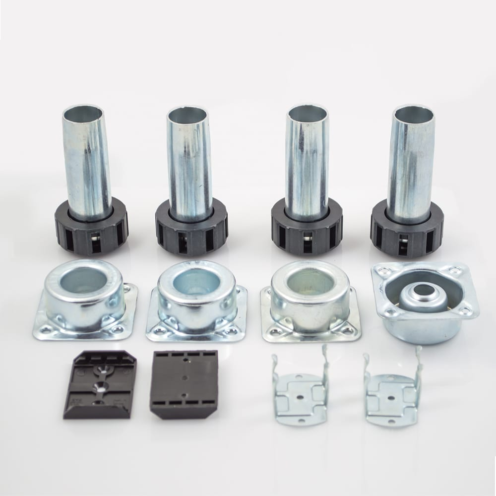 "Metal Cabinet Leveler Set with Height Adjustment 4"" H Peter Meier 400-028B"