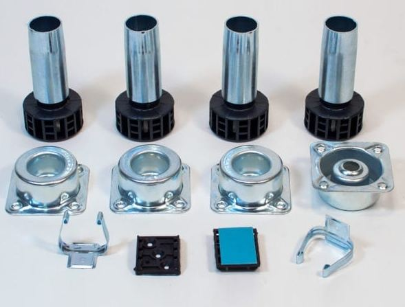 "Metal Cabinet Leveler Set with Height Adjustment 3-3/4"" H  Peter Meier 400-350"
