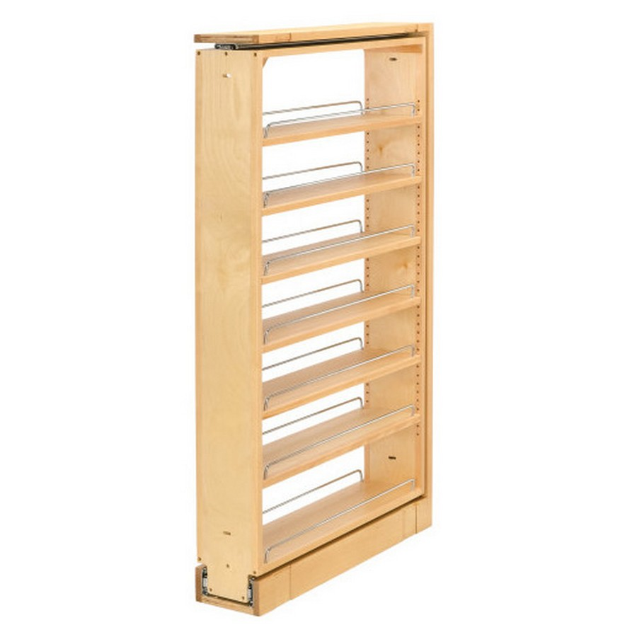 "6"" W X 45"" H Tall Filler Organizer Pullout Rev-A-Shelf 432-TF45-6C"