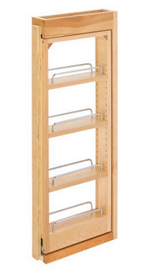 """3"""" W x 30"""" H Pull-Out Between Cabinet Wall Filler Rev-A-Shelf 432-WF-3C"""