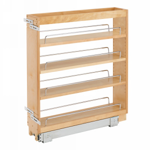 "6-1/2"" Base Cabinet Organizer Maple Rev-A-Shelf 448-BC-6C"