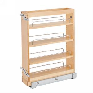 "5"" Base Cabinet Organizer 19"" Depth Maple Rev-A-Shelf 448-BC19-5C"