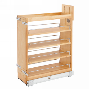 Rev-A-Shelf 448-BCSC-8C, 8in Base Cabinet Organizer with Blum Soft Close Slides