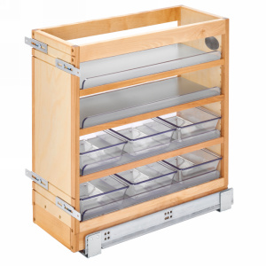 Rev-A-Shelf 448-VC20SC-8 Vanity Base Cabinet Organizer Pull-Out & 6 Polycarbonate Bins