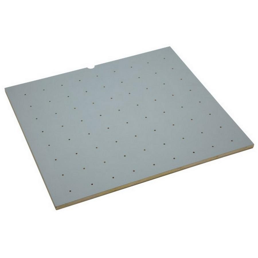 "Small 24"" x 21"" Vinyl Wood Peg Board Only Gray Rev-A-Shelf 4DPBG-2421-1"