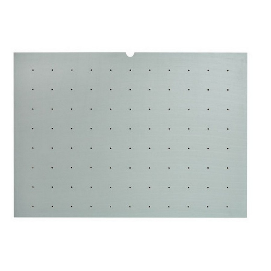 "Medium 30"" x 21"" Vinyl Wood Peg Board Only Gray Rev-A-Shelf 4DPBG-3021-1"