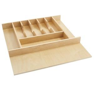 "20-5/8"" Cutlery Drawer Insert, Wood, Maple, Rev-a-shelf  4WCT-3SH"