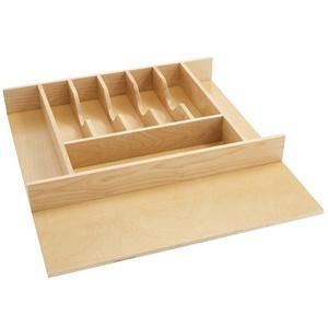 "Large Wood Cutlery Drawer Insert 20-5/8"" W Maple  Rev-A-Shelf  4WCT-3"