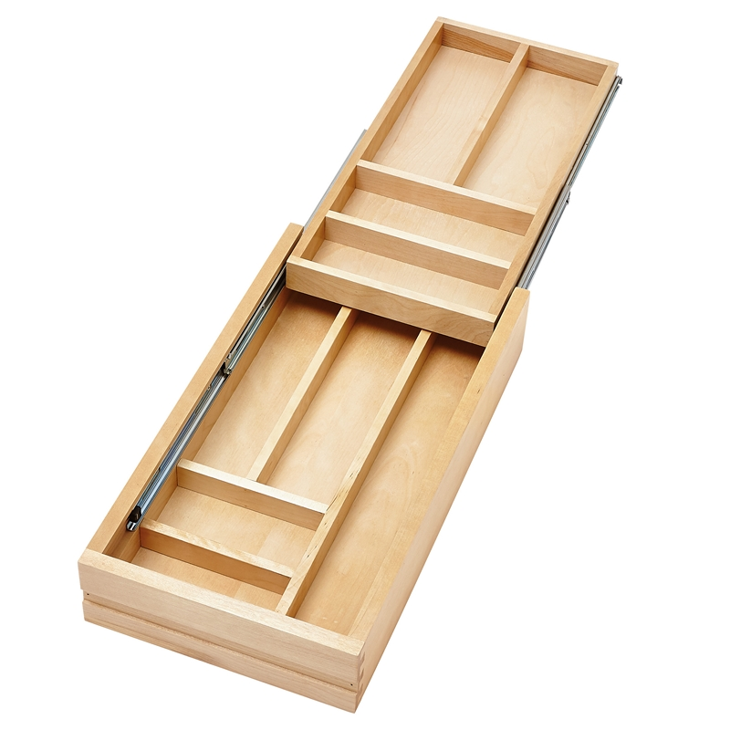 Rev-A-Shelf 4WTCD-15SC-1 - Small Double Tiered Cutlery Drawer