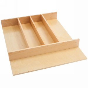 "18-1/2"" Utensil Drawer Insert, Wood, Wood, Rev-a-shelf  4WUT-1"