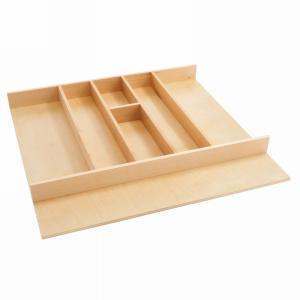 """Natural Maple Shallow Utensil Drawer Insert 24"""" W Rev-A-Shelf  4WUT-3SH"""