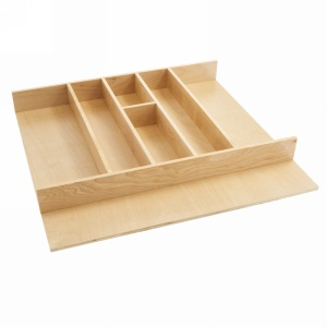 "Tall Wood Cabinet Drawer Utensil Tray Insert 24"" W Natural Maple Rev-A-Shelf  4WUT-3"