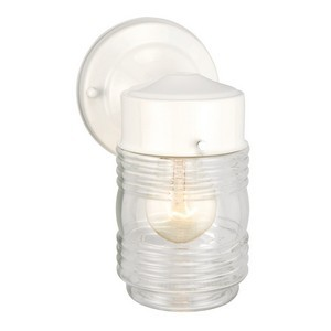 Design House 500181 Jelly Jar Outdoor Downlight, 4-1/2 X 7-1/2, White