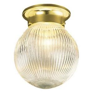 Design House 500629 Millbridge 1-Light Globe Ceiling Mount, Polished Brass