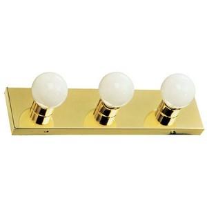 Design House 500827 The Village 3-Light Vanity, Polished Brass