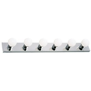 Design House 500942 The Village 6-Light Vanity, Polished Chrome