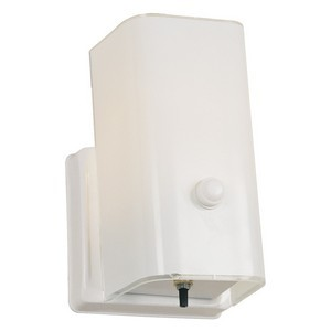 Design House 501130 1-Light Wall Sconce with Switch, White