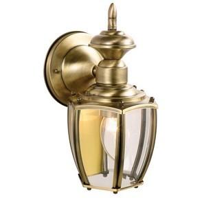 Design House 501478 Jackson Outdoor Downlight, 5-1/2 X 10-7/8, Antique Brass
