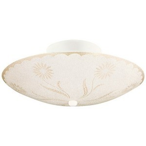 Design House 501619 2-Light Textured Floral Ceiling Mount, White