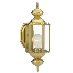 Design House 501692 Augusta Outdoor Uplight, 5-1/2 X 14-3/8, Solid Brass