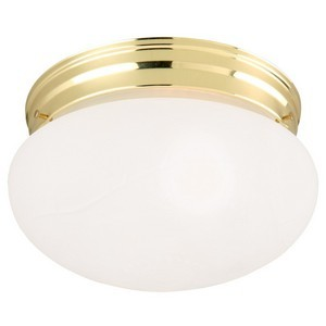 Design House 501841 1-Light Ceiling Mount, Polished Brass