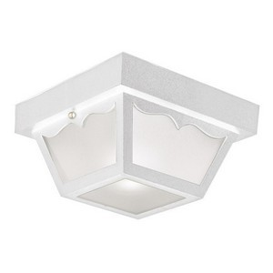 Design House 501858 Outdoor Ceiling Mount Light, 10-1/2 X 5-1/2, White Polypropylene