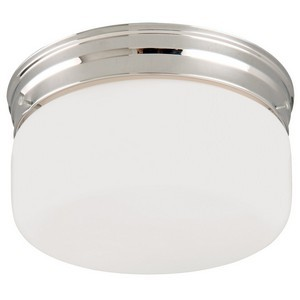 Design House 501965 2-Light White Opal Ceiling Mount, Chrome