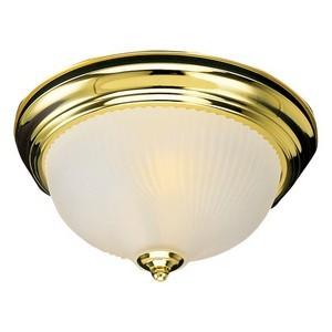 Design House 502096 1-Light Ceiling Mount Light Fixture, Polished Brass