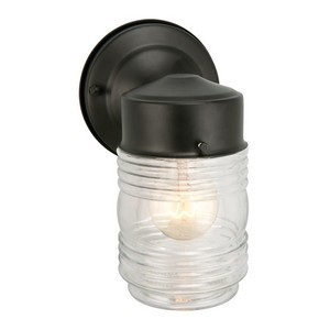 Design House 502195 Jelly Jar Outdoor Downlight, 4-1/2 X 7-1/2, Black