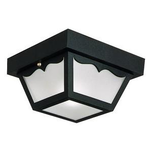 Design House 502872 Outdoor Ceiling Mount Light, 10-1/2 X 5-1/2, Black Polypropylene