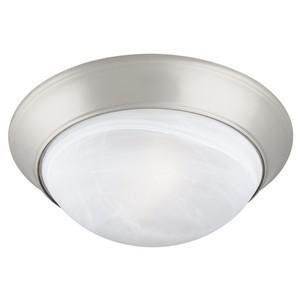 Design House 503201 2-Light Ceiling Mount Twist Off Light Fixture, Satin Nickel