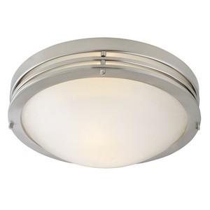 Design House 503284 Alabaster 2-Light Ceiling Mount Light Fixture, Satin Nickel