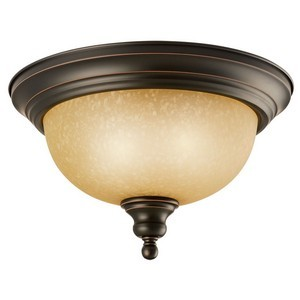 Design House 504399 Bristol 2-Light Ceiling Mount Light Fixture, Oil Rubbed Bronze