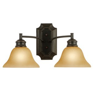 Design House 504407 Bristol 2-Light Wall Sconce, Oil Rubbed Bronze