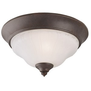 Design House 504803 2-Light Flush Mount Ceiling Light, Weathered Patina