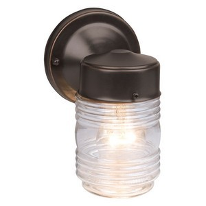 Design House 505198 Jelly Jar Outdoor Downlight, 4-1/2 X 7-1/2, Oil Rubbed Bronze