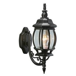 Design House 505537 Canterbury Outdoor Uplight, 6.38 X 20-1/2, Black Die-Cast Aluminum