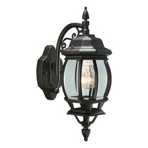 Design House 505545 Canterbury Outdoor Downlight, 6 X 17, Black Die-Cast Aluminum