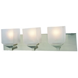 Design House 506493 Syrah 3-Light Vanity Light, Satin Nickel